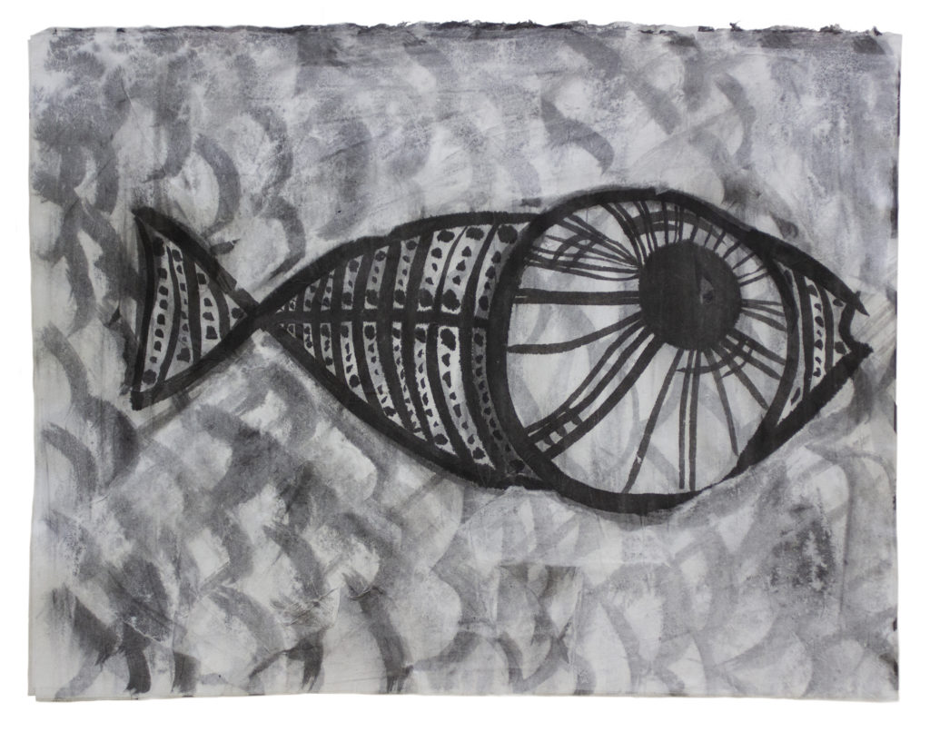 Big Eye Fish Ink on Paper