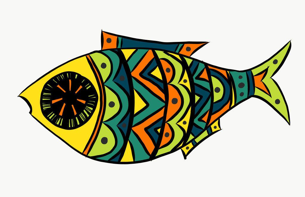 Colorful Fish Digital Drawing