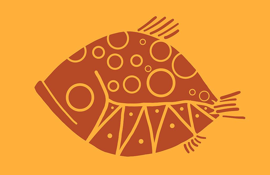 Happy Fish Digital Drawing