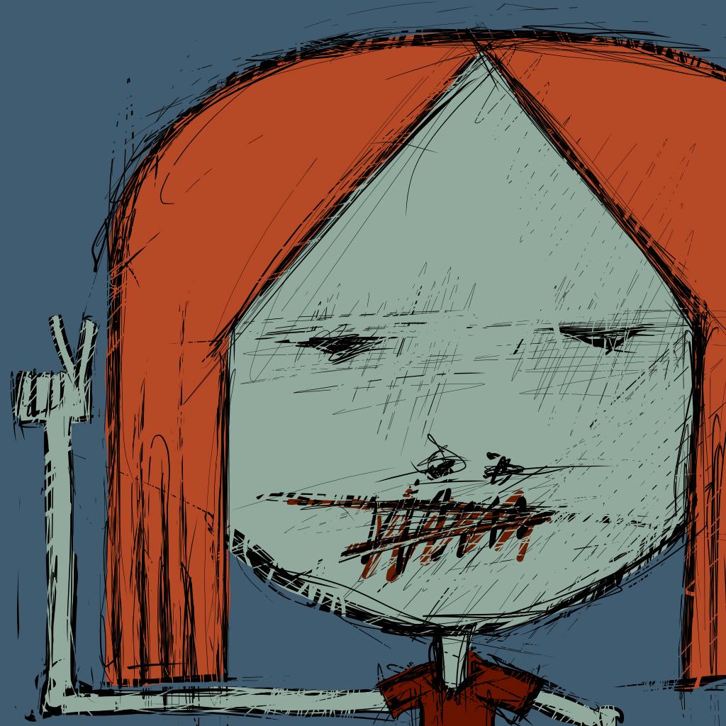 Peace Girl Digital Drawing