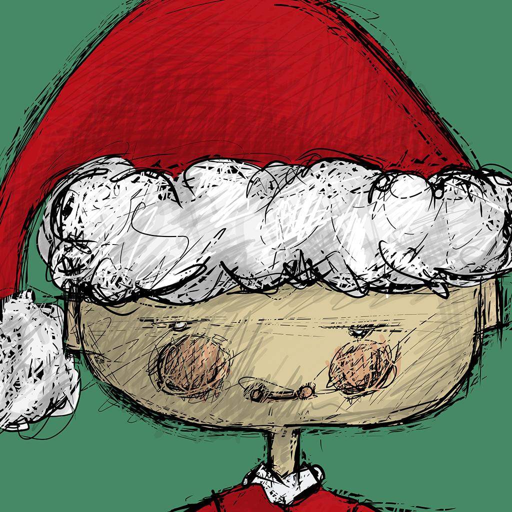 Santa Claus Digital Drawing
