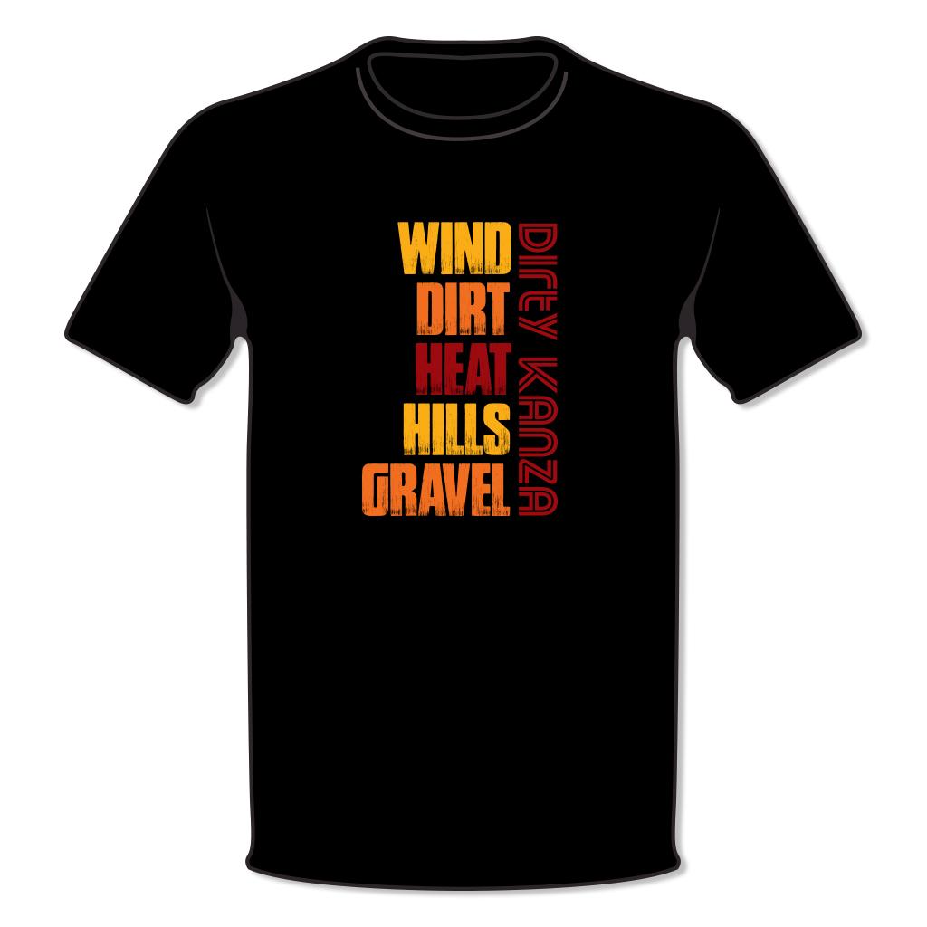 Wind Dirt Heat Hills Gravel T-Shirt