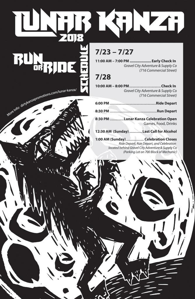 Lunar Kanza Schedule Poster