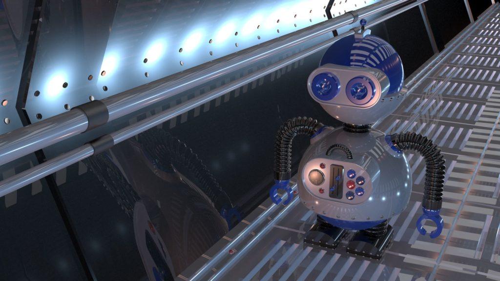 3d robot 1 in environment