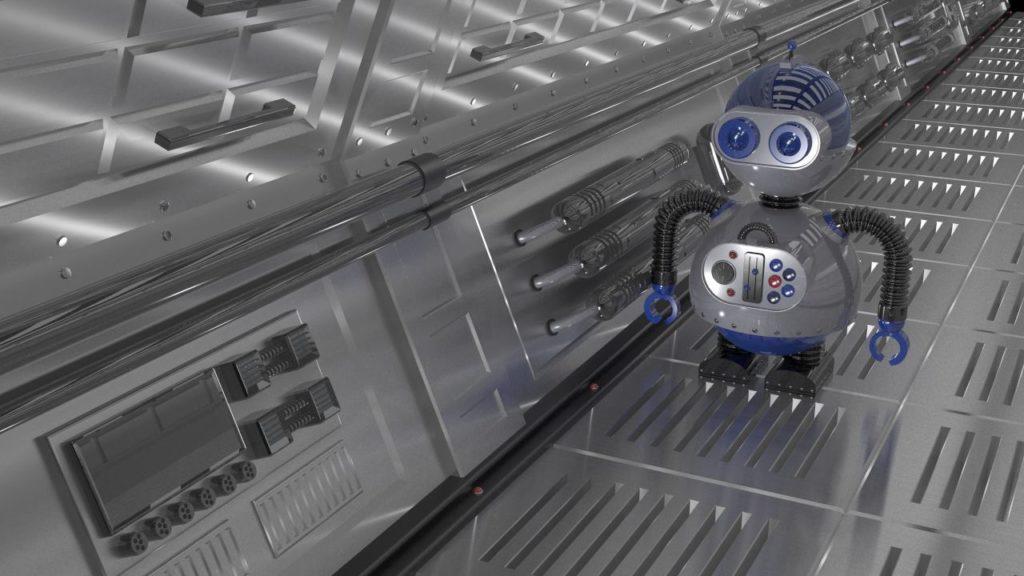 3d robot 1 in environment 2