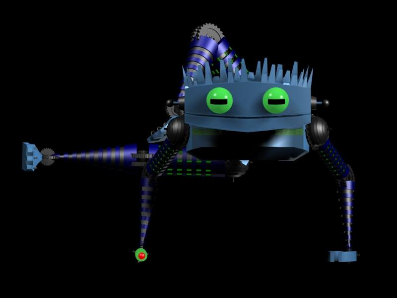3d robot yoga 2