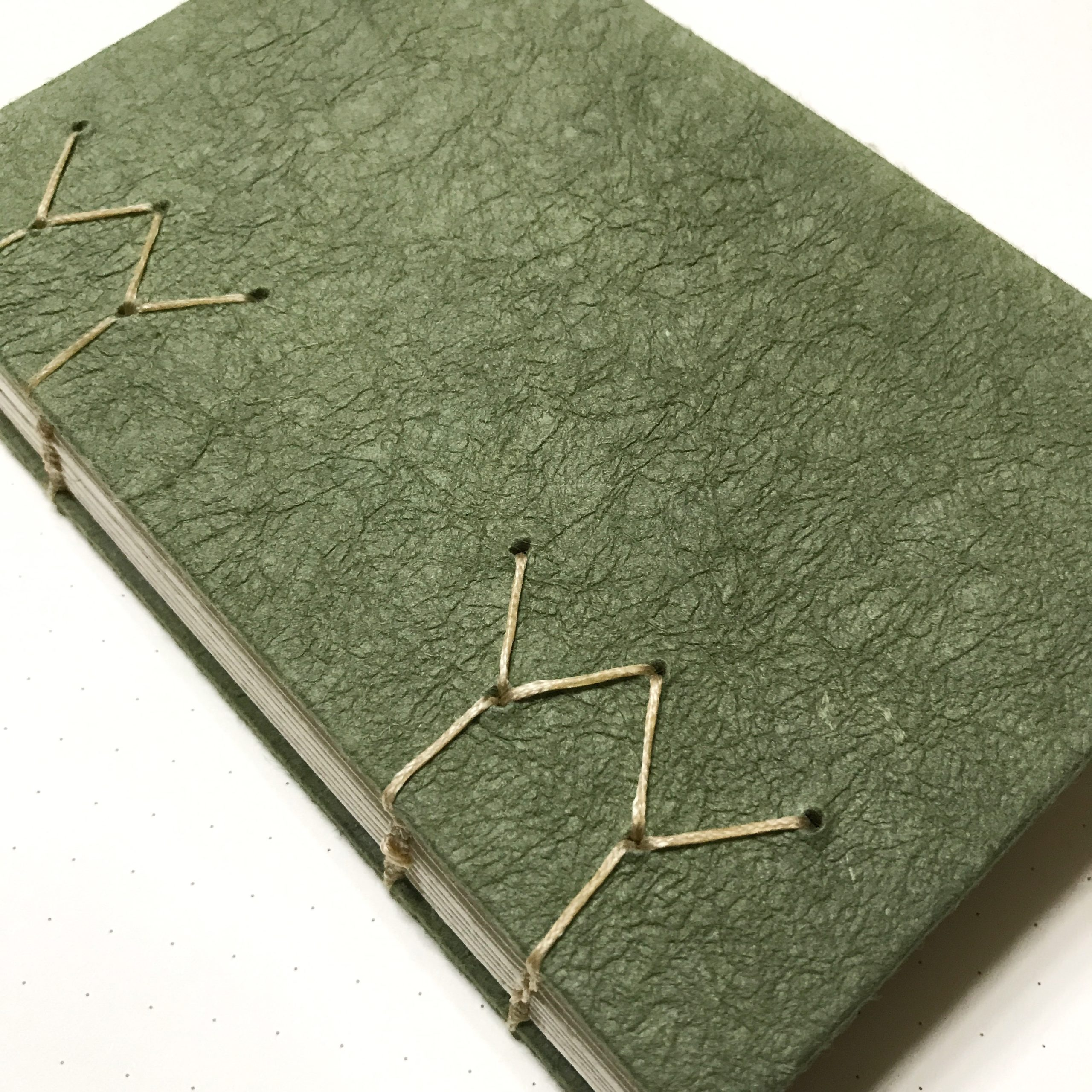 Cover of green sketchbook